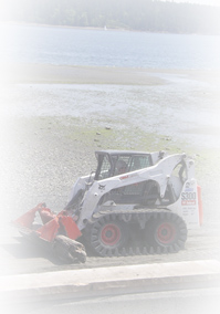 Graf Excavating Bobcat Picture on Vancouver Island